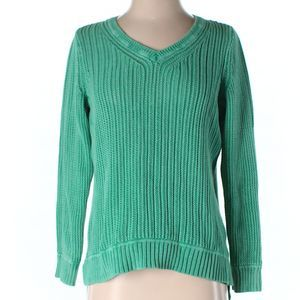 Style & Co Green Ribbed Pullover Sweater